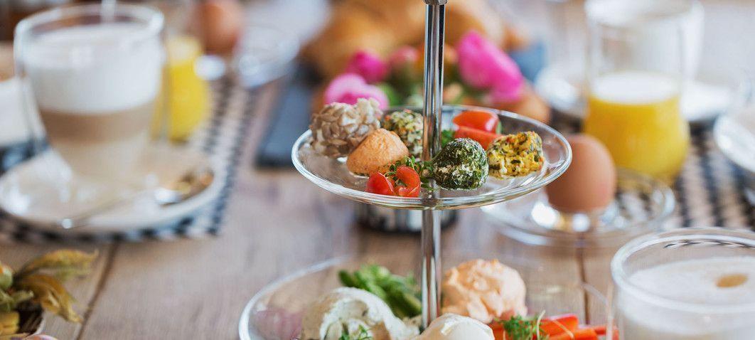 Gesundes Frühstück in der Luxuslodge
