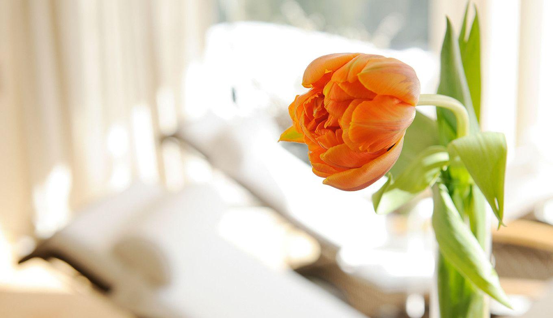 Blumendeko in der Luxuslodge