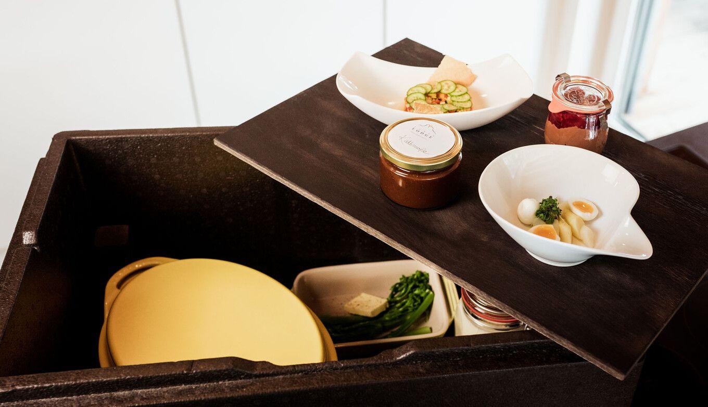 Genuss-Package geöffnet in der Luxuslodge