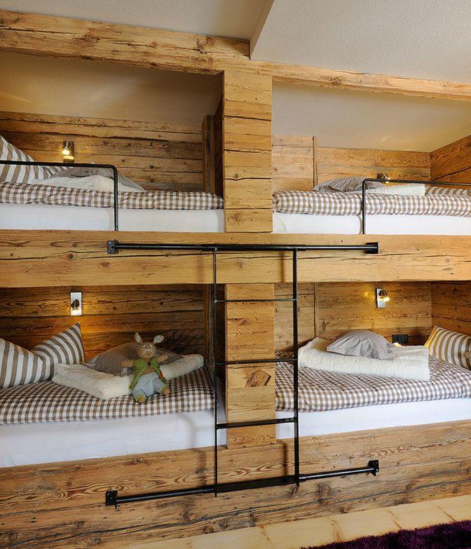 Stockbetten in der Luxuslodge
