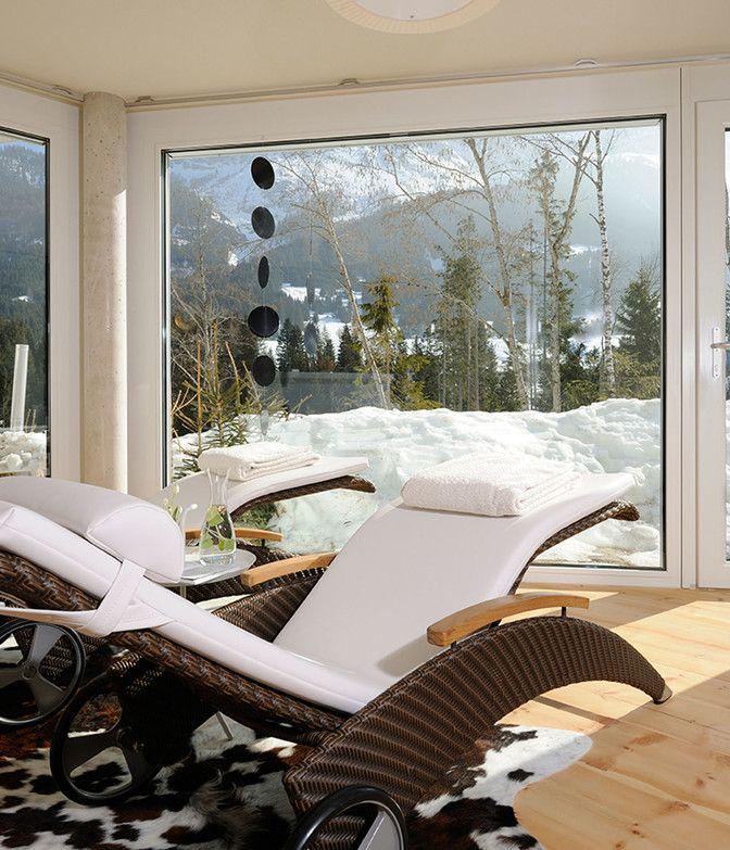 Luxuslodge Spa-Bereich im Winter