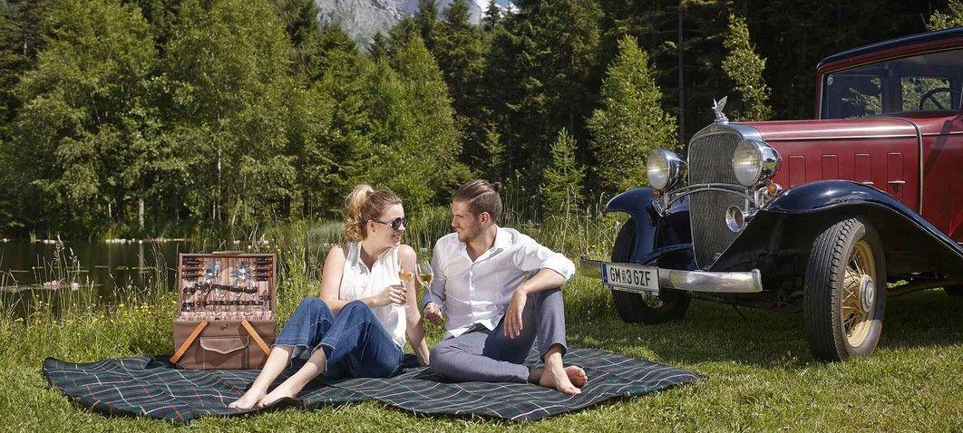Oldtimer-Fahrt mit Picknick