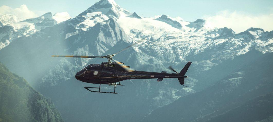 Helikopterflug mit SENNAIR