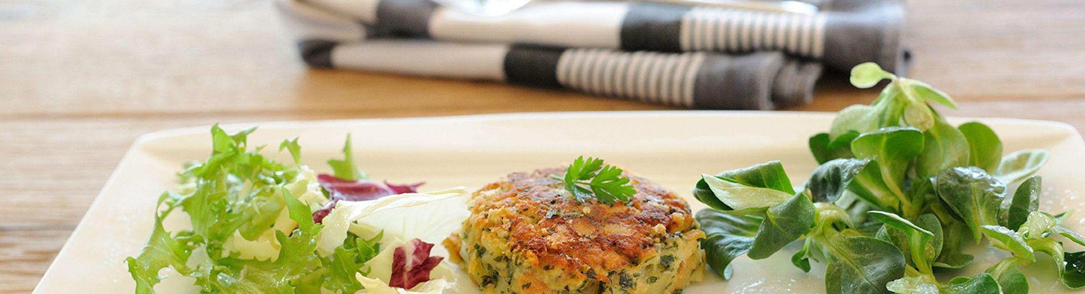 Gemüselaibchen auf Teller in der Luxuslodge