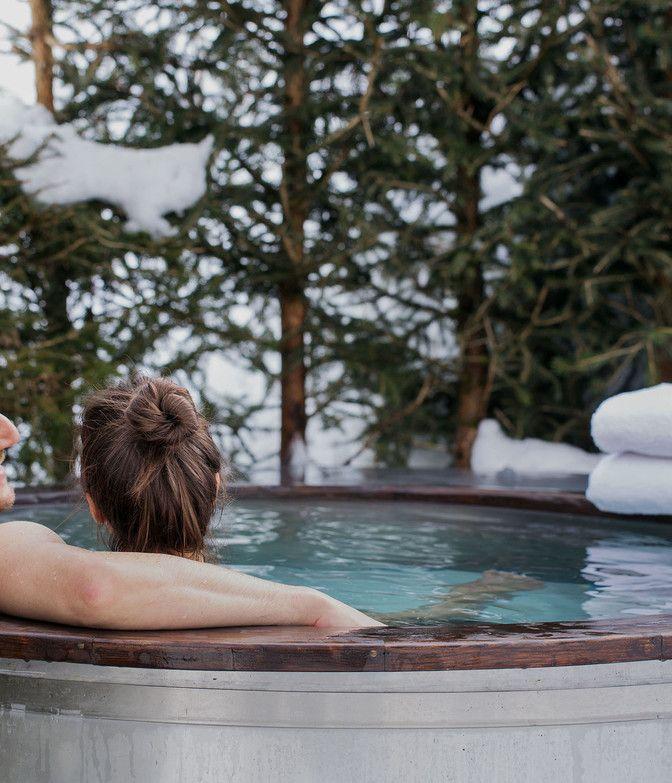 Luxuslodge Paar in Hot Tub